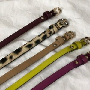Set of five belts